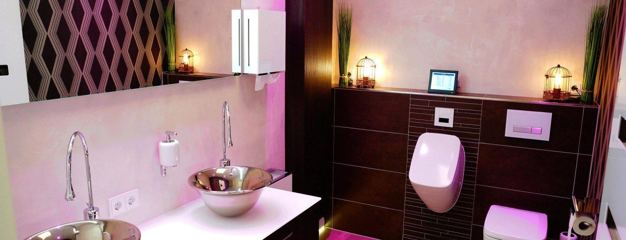 Badezimmer in fugenloser Spachteltechnik