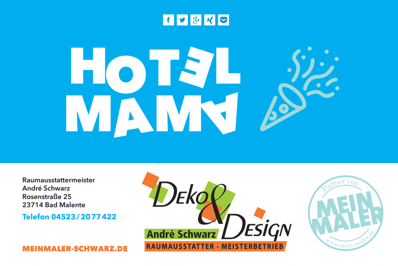 HotelMama MeinMaler Schwarz
