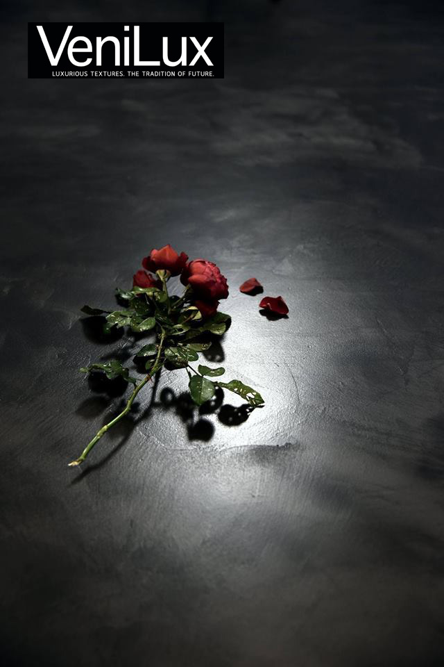 Venilux marmorino floor flower