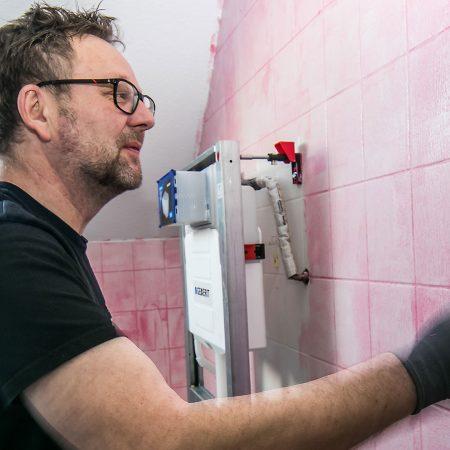 Spachteltechnik Malente Fugenlos Bad Badezimmer Wandgestaltung 01