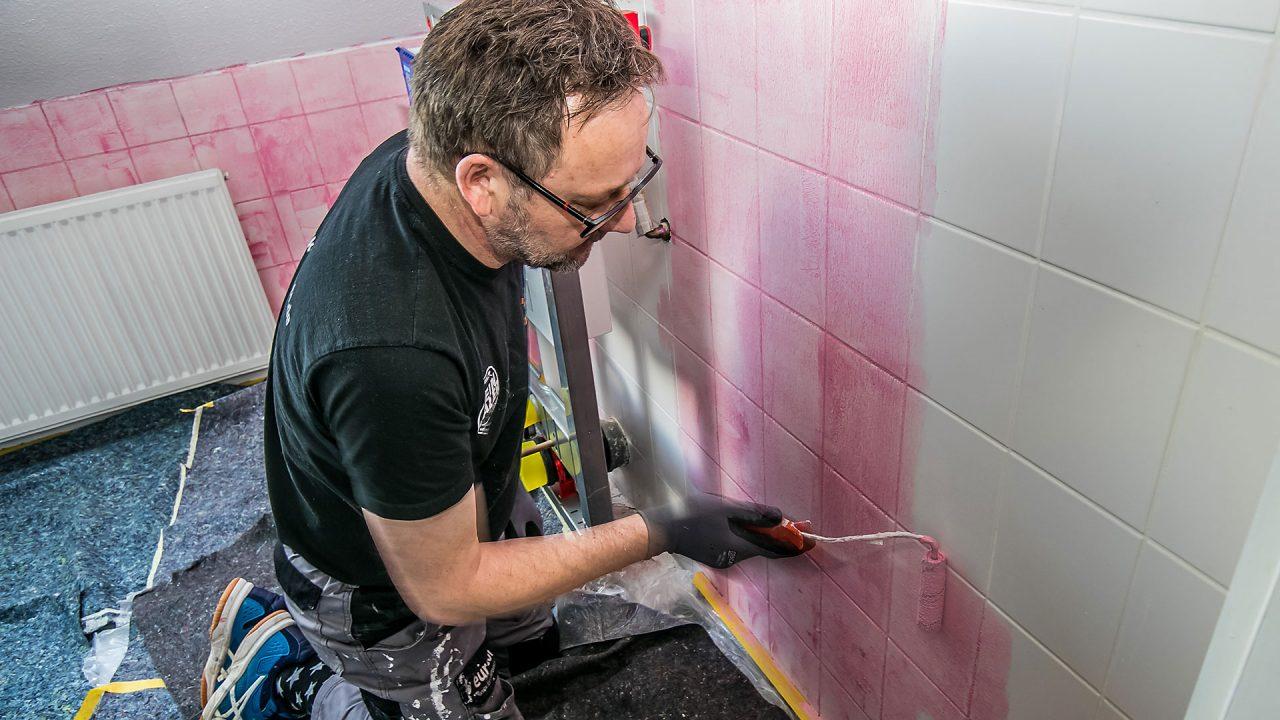 Spachteltechnik Malente Fugenlos Bad Badezimmer Wandgestaltung 02