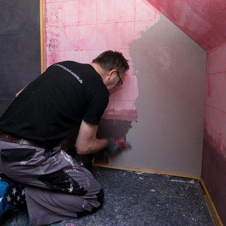 Spachteltechnik Malente Fugenlos Bad Badezimmer Wandgestaltung 04