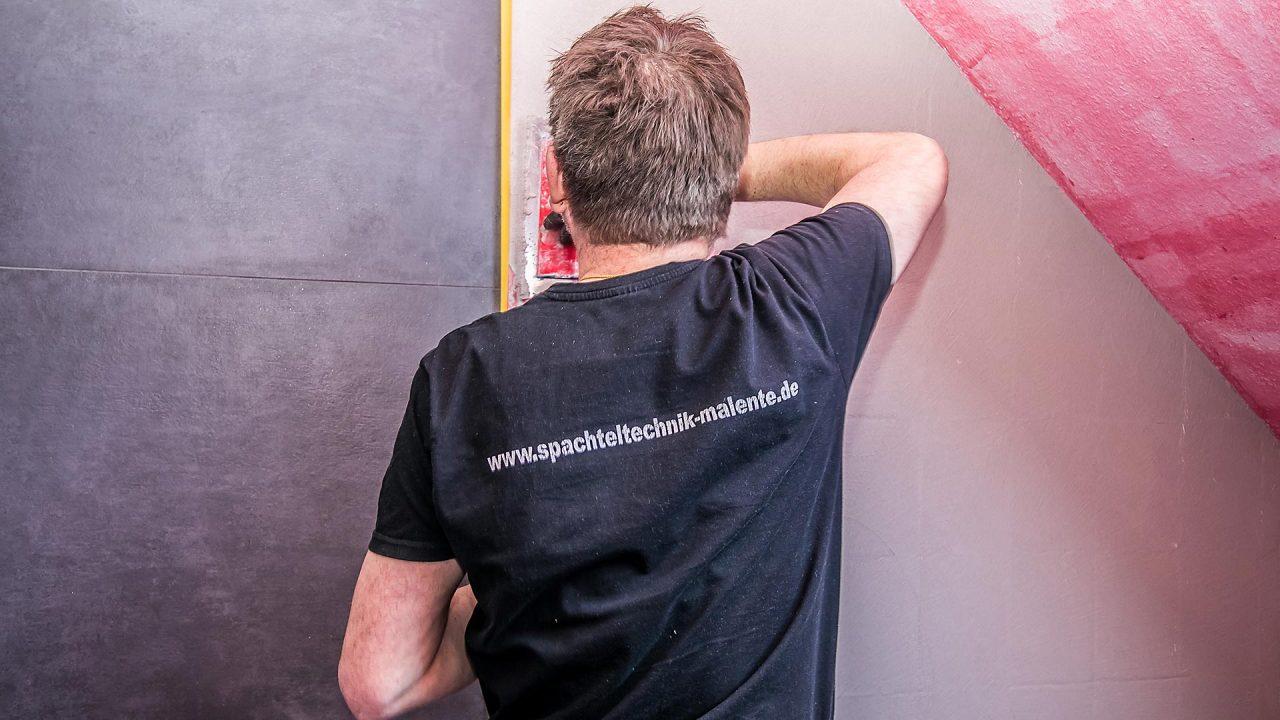 Spachteltechnik Malente Fugenlos Bad Badezimmer Wandgestaltung 05
