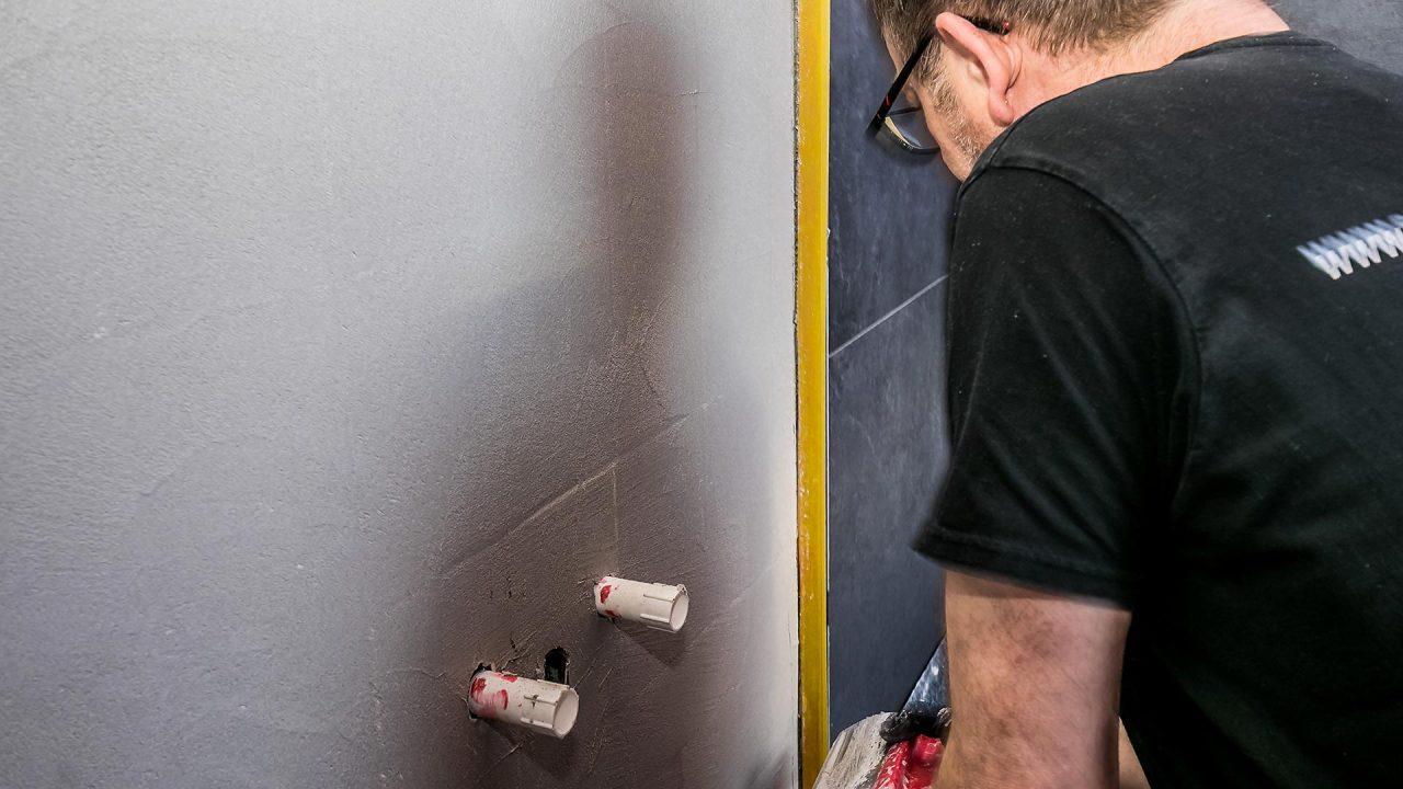 Spachteltechnik Malente Fugenlos Bad Badezimmer Wandgestaltung 06