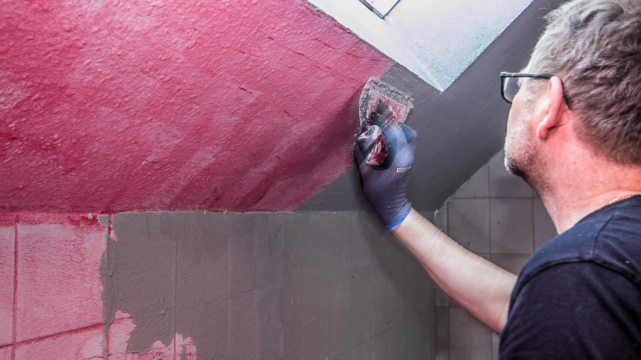 Spachteltechnik Malente Fugenlos Bad Badezimmer Wandgestaltung 09