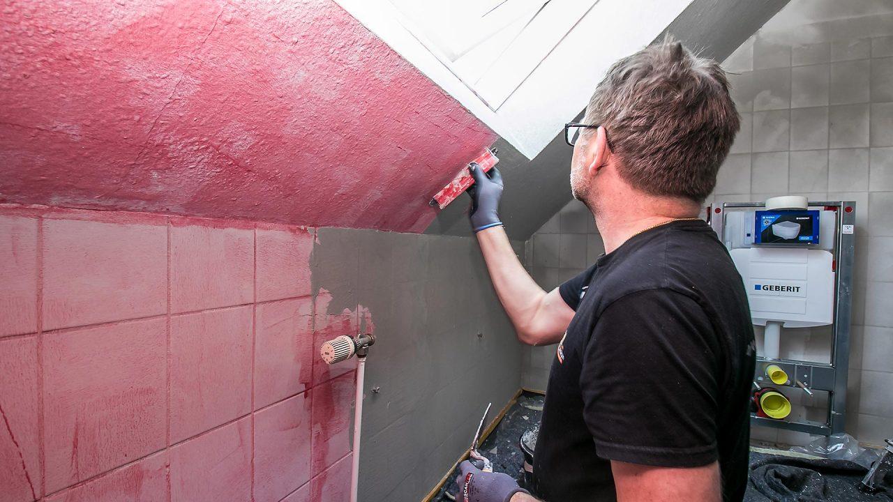 Spachteltechnik Malente Fugenlos Bad Badezimmer Wandgestaltung 10