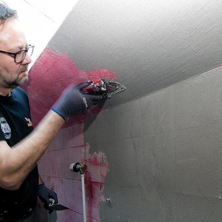 Spachteltechnik Malente Fugenlos Bad Badezimmer Wandgestaltung 11