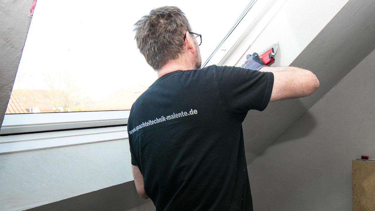 Spachteltechnik Malente Fugenlos Bad Badezimmer Wandgestaltung 13