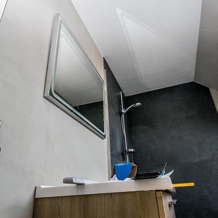 Spachteltechnik Malente Fugenlos Bad Badezimmer Wandgestaltung 18