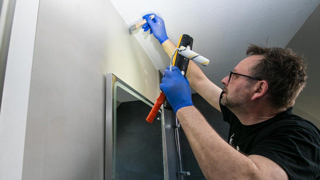 Spachteltechnik Malente Fugenlos Bad Badezimmer Wandgestaltung 20