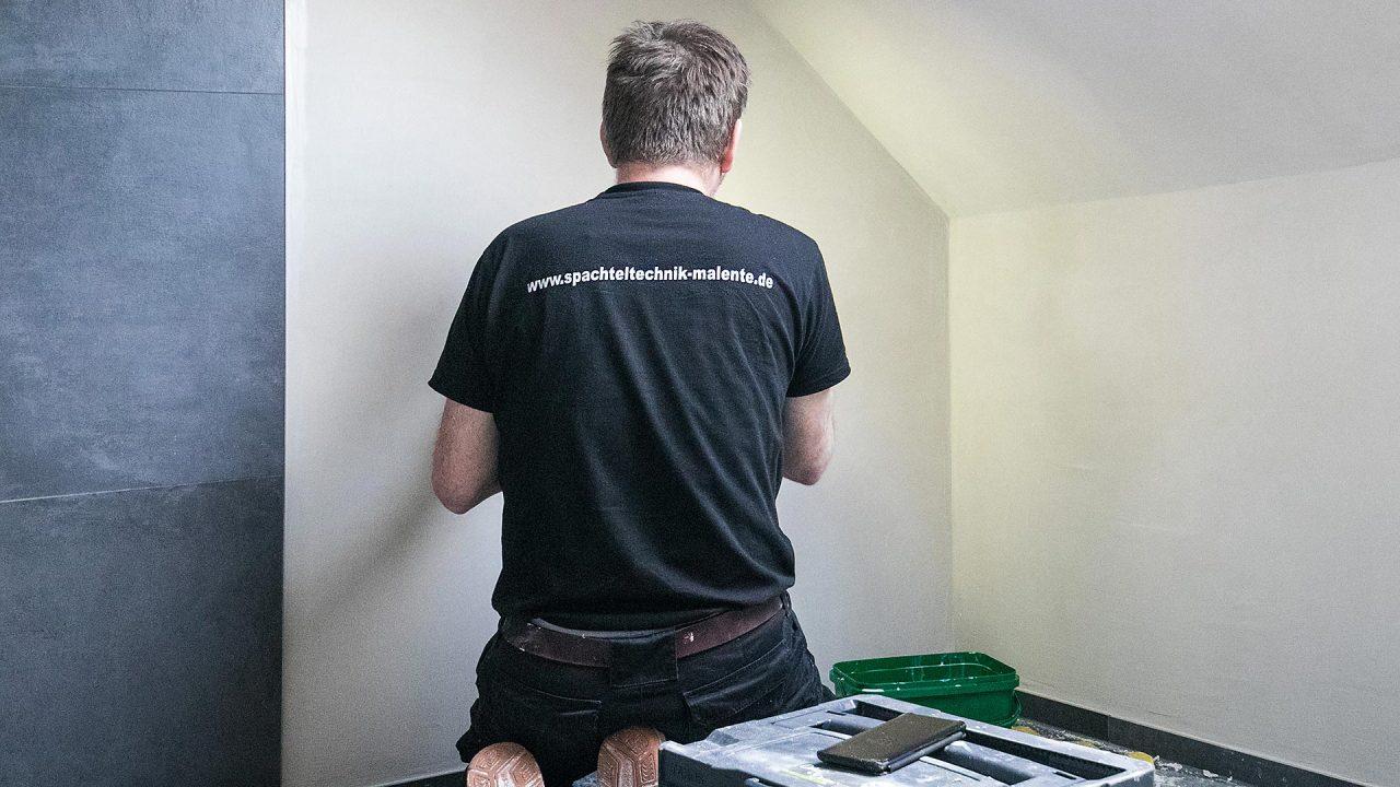 Spachteltechnik Malente Fugenlos Bad Badezimmer Wandgestaltung 21