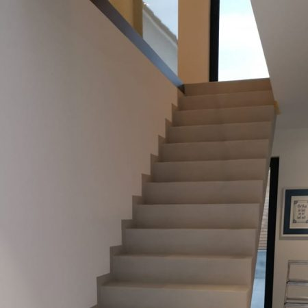 Betonoptik Treppe Spachteltechnik Black Power Ready Malente Eutin Ostsee 01