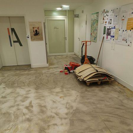 Bodenbelagsarbeiten Designplanken im Krankenhaus Bad Malente Raumausstatter 05
