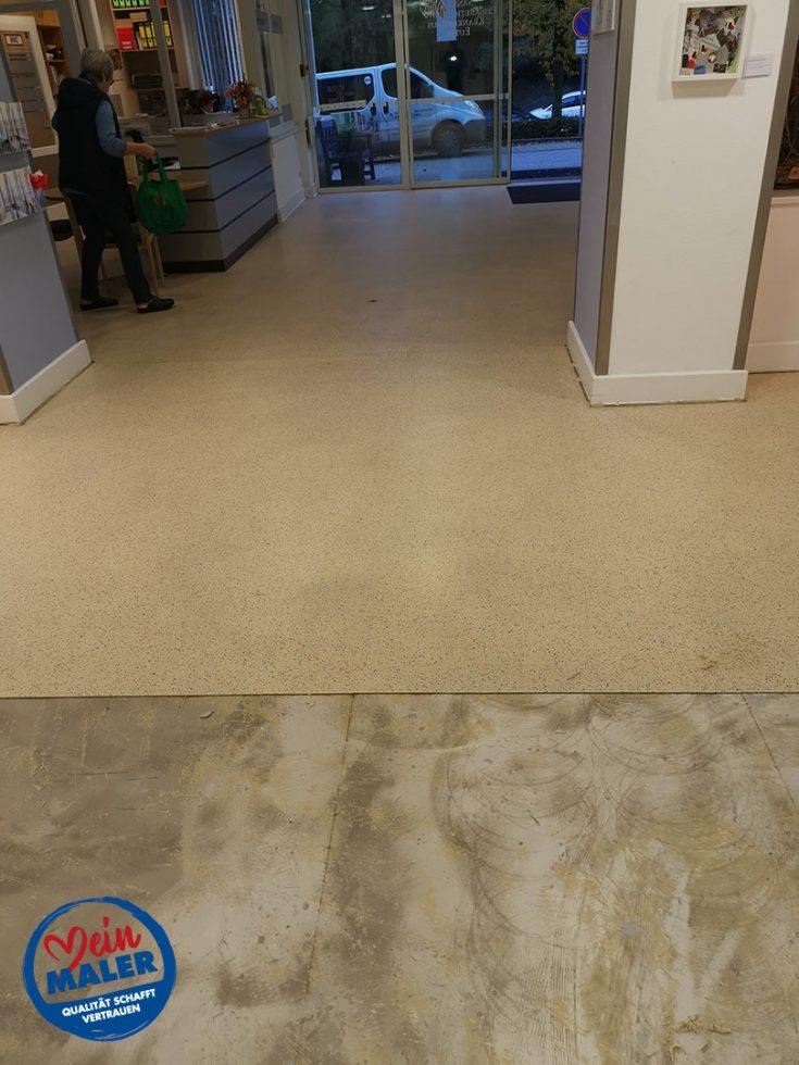 Bodenbelagsarbeiten Designplanken im Krankenhaus Bad Malente Raumausstatter 07