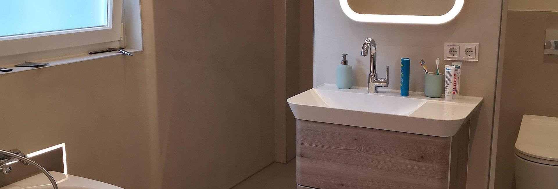 Fugenloses Bad Spachteltechnik Hamburg Badezimmer Dusche Boden Malente 01