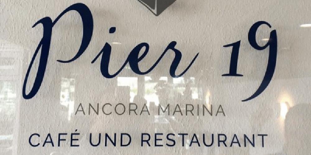 Wand-, Decken-, Fenster und Bodengestaltung - Restaurant Pier 19 im Ancora Yachthafen in Neustadt in Holstein