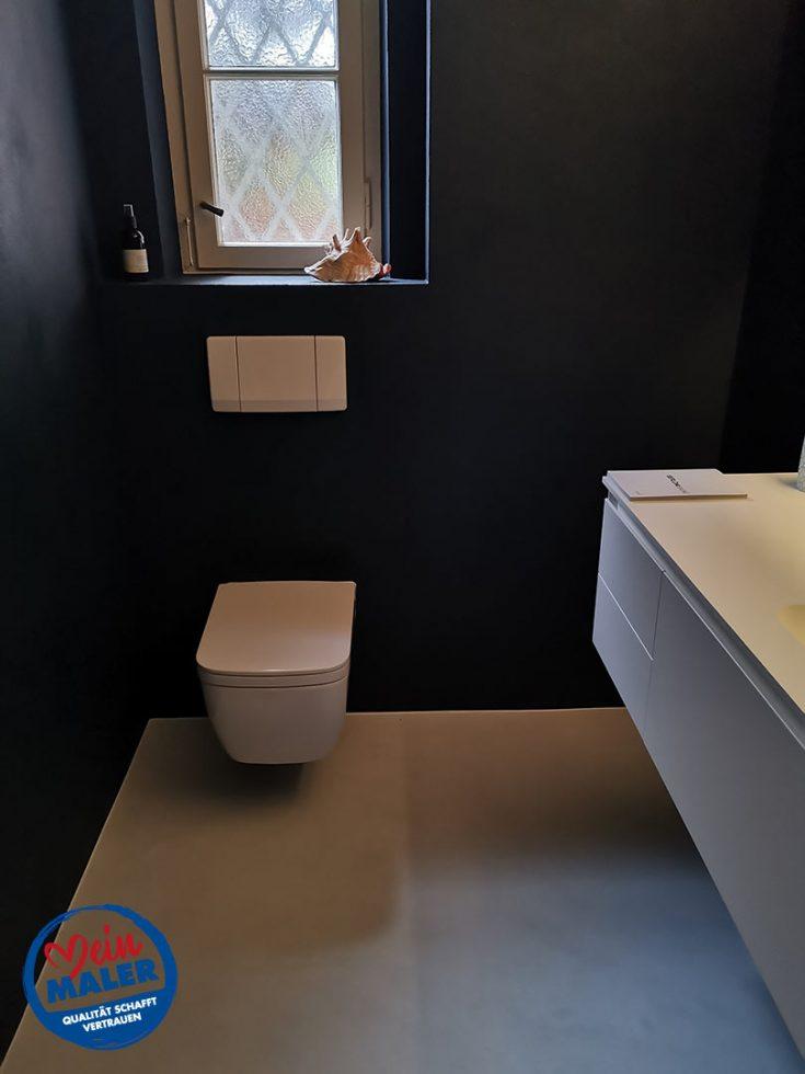 Gaeste WC Fugenlos spachtel Bad Malente Wandgestaltung Eutin Kiel Hamburg 04