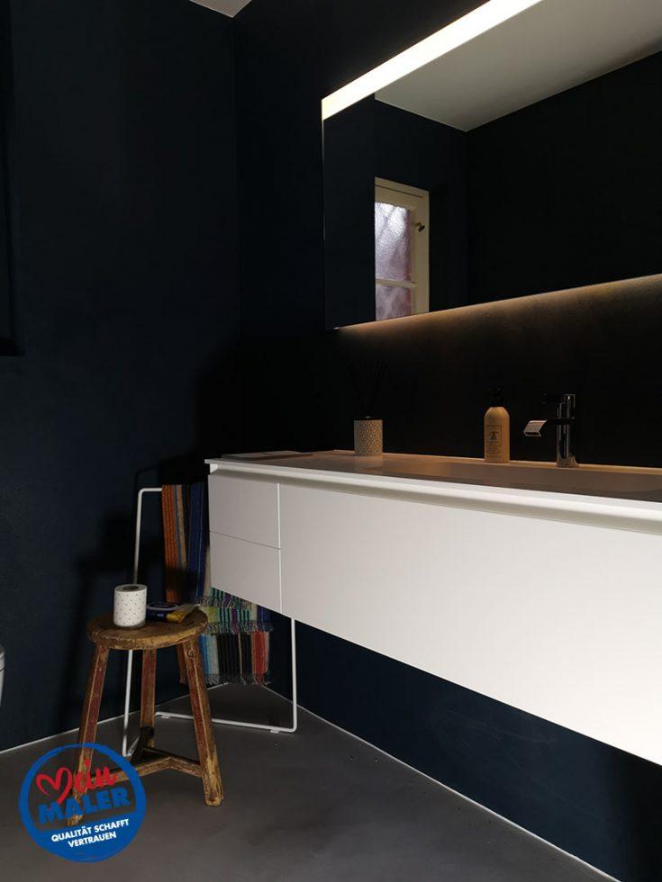 Gaeste WC Fugenlos spachtel Bad Malente Wandgestaltung Eutin Kiel Hamburg 05