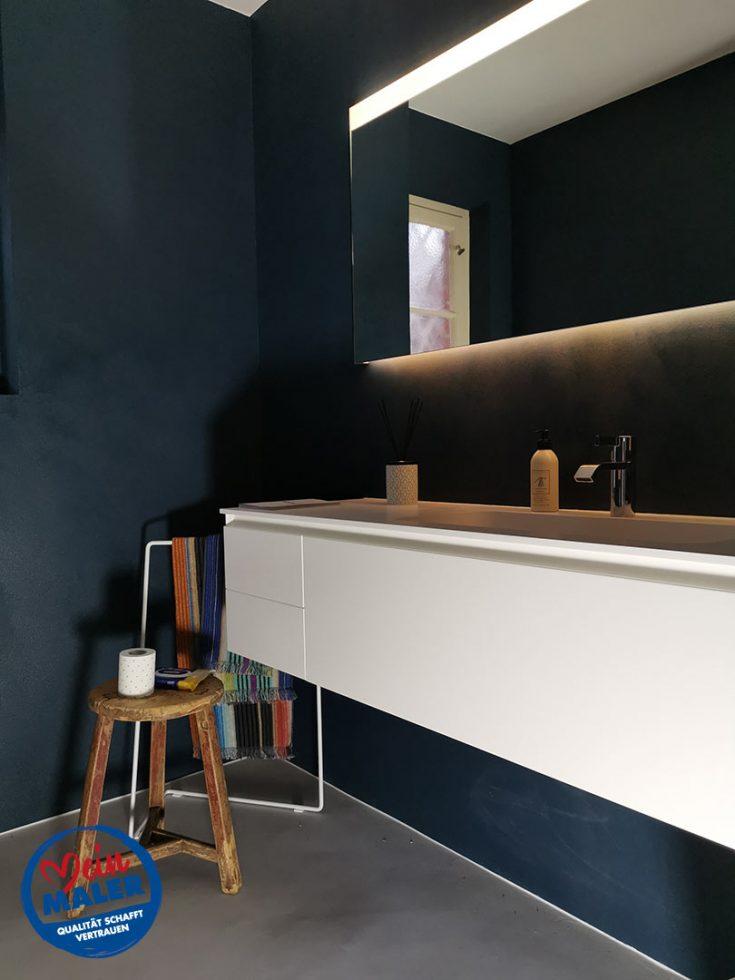Gaeste WC Fugenlos spachtel Bad Malente Wandgestaltung Eutin Kiel Hamburg 06