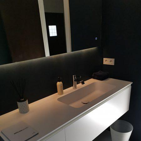 Gaeste WC Fugenlos spachtel Bad Malente Wandgestaltung Eutin Kiel Hamburg 09